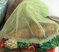 Make a reusable mesh produce bag