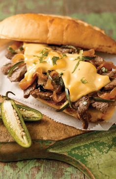 Garlic Bread Steak Sandwich — As if a juicy sirloin steak sandwich weren't delicious enough, we upped the ante by serving it on grilled garlic bread.