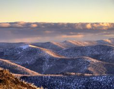 The Brindabella Ranges that surround Canberra
