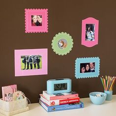 great idea...cut out with vinyl; for the girls room