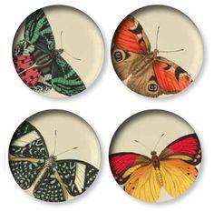 Set of 4 Metamorphosis Side Plates / design by Thomas Paul