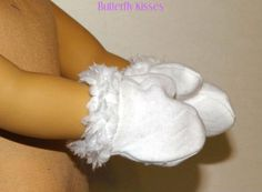 "White Mittens / Ski Gloves Doll Clothes Made For 18"" American Girl Dolls"