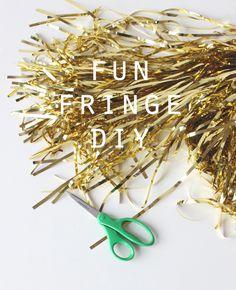 coco+kelley metallic fringe garland DIY