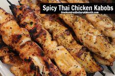 Spicy Thai Chicken Kabobs