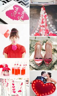 Valentine inspired wedding ideas from Bella Figura, inspired by Jessica Tierney's new Urbanic save the date