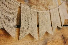Burlap and Twine Bunting Banner Photo Prop by themcavoyroost