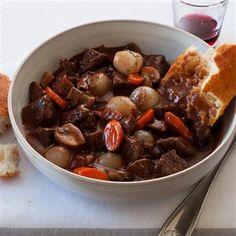 beef bourguignon, mccormick recip, red wines