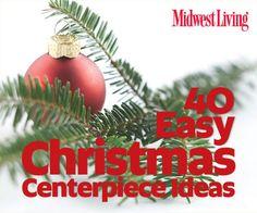 Christmas Centerpieces On Pinterest Christmas
