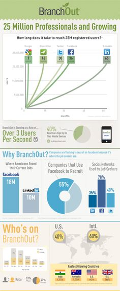 BranchOut Infographic - LinkedIn meets Facebook