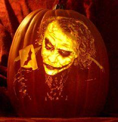 Joker Pumpkin Carving
