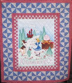 Adventures with Alice Quilt Kit - Kit includes enough fabric to make a throw pillow in addition to quilt.