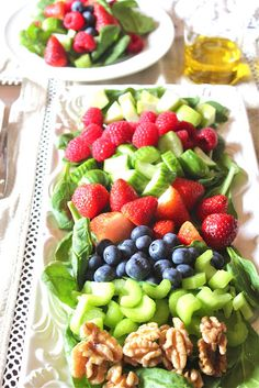 Antioxidant Salad with Lemon Dressing... beautiful, healthy, AND yummy