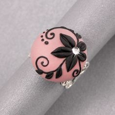 polymer clay rings, polymerclay, clay beads, perle clay, clay flowers, polymer ring, polym clay, place, polymer clay bracelet