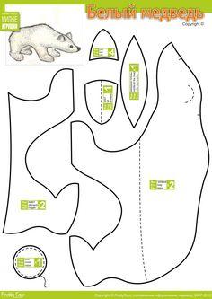 Белый медведь, Polar Bear Stuffed Animal Pattern,  How to Make a Toy Animal Plushie Tutorial Plushies Tutorial , Animal Plushies, Softies & Furries Arts and Crafts, Diy Projects, Sewing Template , animals, plush, soft, plush, toy, pattern, template, sewing, diy , crafts, kawaii, cute, sew, pattern, critter,kids, baby, cuddly toy, arctic polar bear, handmade