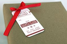 FREE printable Santa Gift Tags! A great way to add a special touch to gifts from the North Pole!