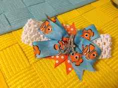 Finding Nemo baby hair bow!