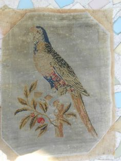 Antique Late 18th Century Needlework Pole Screen Tapestry | eBay