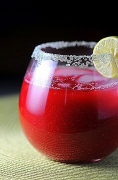 Key Lime Raspberry Margarita. Tequila, orange liquor, frozen raspberries, key lime juice & superfine sugar. Relax, sip, & enjoy:)