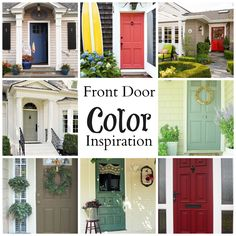The best front door colors!
