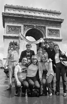 Scousers in Gay Paris: Liverpool supporters at the Arc de Triomphe ahead of the 1981 European Cup final against Real Madrid.