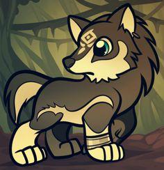 chibi wolf link from twilight princess