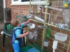 @Megan Ward Mattivi I want to do a water wall like this on the fence on the playground at BQ this summer!!! HOW FUN!!!  Water Wall   Pre-school Play