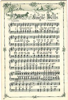 printable Christmas sheet music for card making or wrapping paper