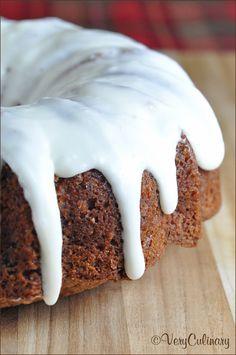 Easy Apple Cake with Cream Cheese Vanilla Icing #recipe