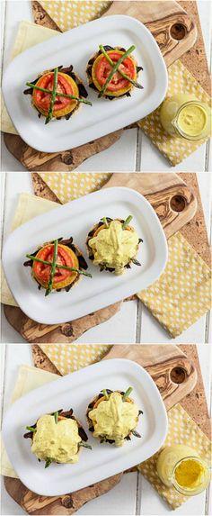The Soy Free Vegan Benedict #vegan #entree #recipe