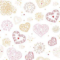 Heart stamp white Valentine's Day scrapbook paper