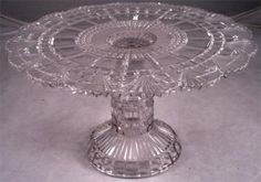 """EAPG Cake Stand, 10""""D x 5 1/2 H.  Pattern???"""