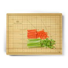 A cutting board that helps you measure. | 11 Affordable Kitchen Utensils That Will Change Your Life