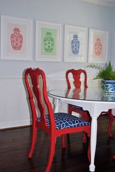 Chinoiserie Chic: Red, White and Blue Chinoiserie