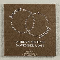 """Forever & Ever Personalized Canvas Print 12"""" x 12"""""""