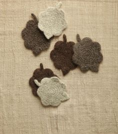 Felted Leaves Coasters | Learn how to make felted projects from @joannstores