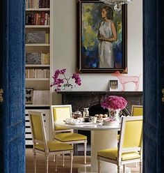 Dining room from Elle Decor