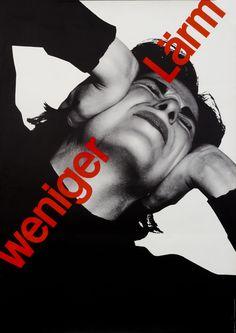 Josef Muller-Brockmann Poster: Weniger Larm