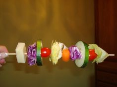 Salad Skewers - maybe for a BBQ so you can have an easy salad with your burger?