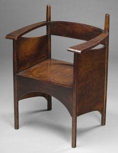 Charles Rennie Mackintosh (1868-1928) - Oak Arm Chair.