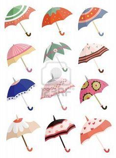 paraguas de dibujos animados  Foto de archivo