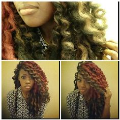 Super cute protective style.  Crochet braids with marley hair