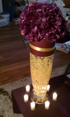 dark purple wedding centerpieces