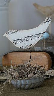Bird nest  . . . in an old tin mold