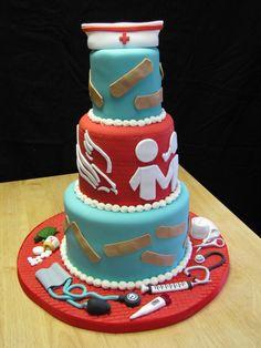 nurse graduation cake or retirement cake