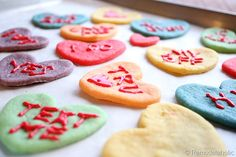 Valentine Converstaion Heart Cookies Koolaid Cookies Recipe