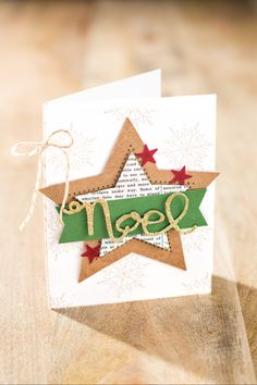 The Many Merry Stars kit is full of fun pieces that can be used to make so many things, including greeting cards!