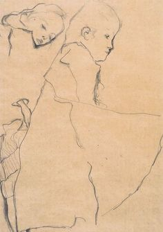 Two Sleeping Girls, 1911 by Egon Schiele.
