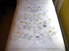 Family Tree bedspread = awesome