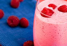 Valentine's Day Smoothy for school or classroom healthy parties - (Blend Together Frozen Raspberries, Strawberries and a Banana, Add a Splash of Milk or Some Yogurt, Puree)