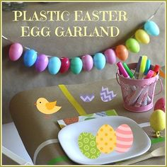 How to Make an Easter Egg Garland with Plastic Eggs